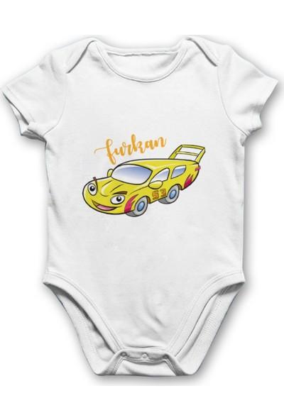 İncili Baby Sarı Arabalı Bebek Body