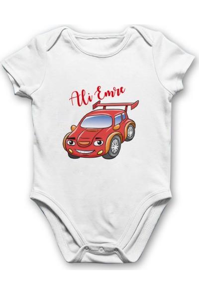 İncili Baby Kırmızı Arabalı Bebek Body