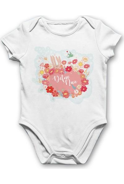 İncili Baby Çiçekli Tavşanlı Bebek Body