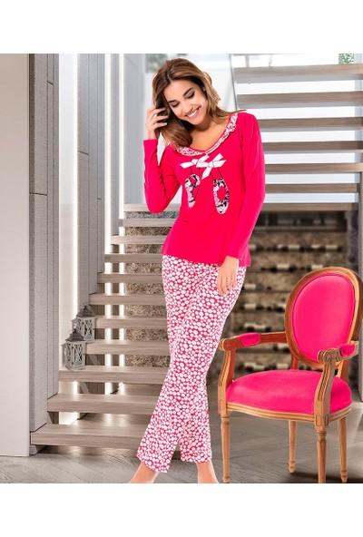 Derya Kurşun Puanlı Babet Baskılı Kadın Pijama Takım 1117