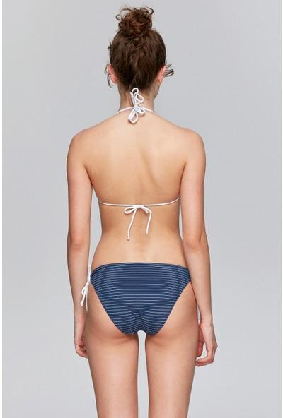 Attuale Desenli Çıkarılabilir Kaplı Üçgen Bikini Takım