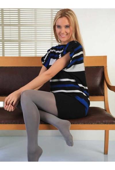 Mite Love Termal Külotlu Çorap Gri