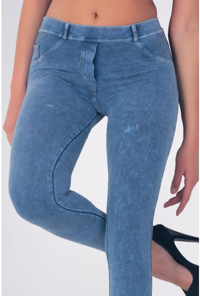 Mite Love Mavi Pantolon Görünümlü Kadın Tayt