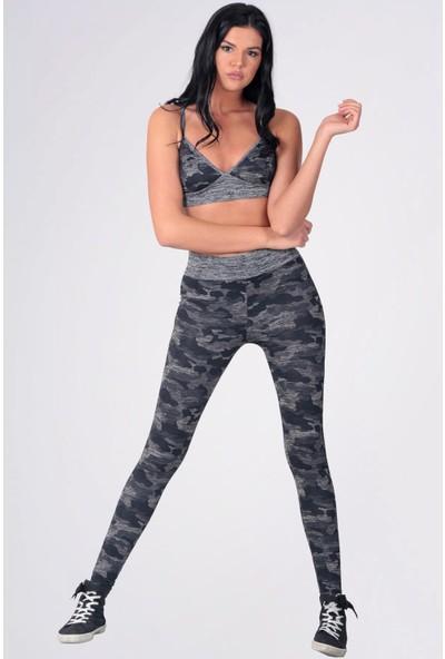 Mite Love Kadın Fitness 2li Tayt Takım Siyah