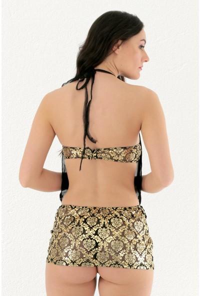 Mite Love Gold Etekli Babydoll Fantazi Giyim