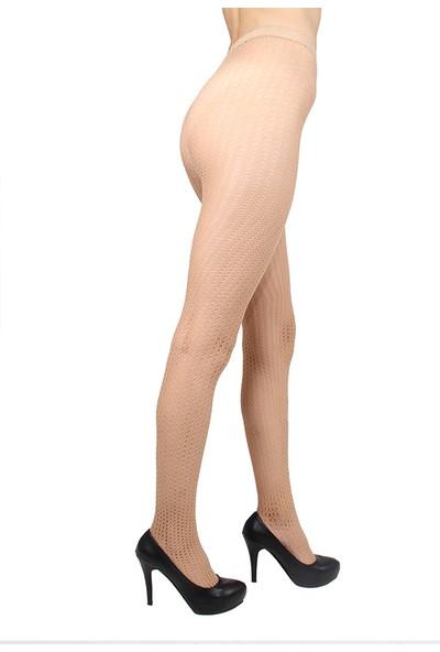 Mite Love File Külotlu Çorap Ten Rengi