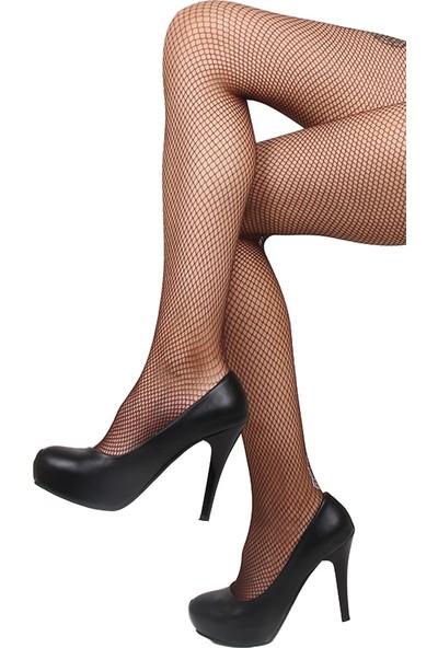 Mite Love File Külotlu Çorap Kahverengi