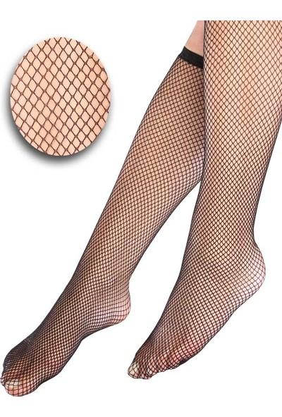 Mite Love File Diz Altı Kadın Çorabı Siyah