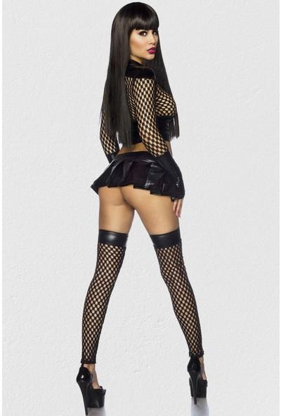 Mite Love Deri Mini Elbise Fantezi Giyim