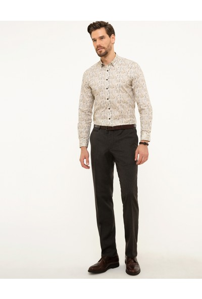 Pierre Cardin Kahverengi Slim Fit Pantolon 50210656-VR029