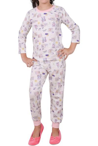 Nicoletta Kız Çocuk Pijama Takımı Uzun Kollu Pamuk