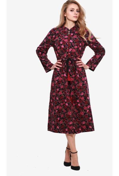 Ina Divitin Pazenden Önü Fermuarlı Hakim Yaka Mevsimlik Elbise