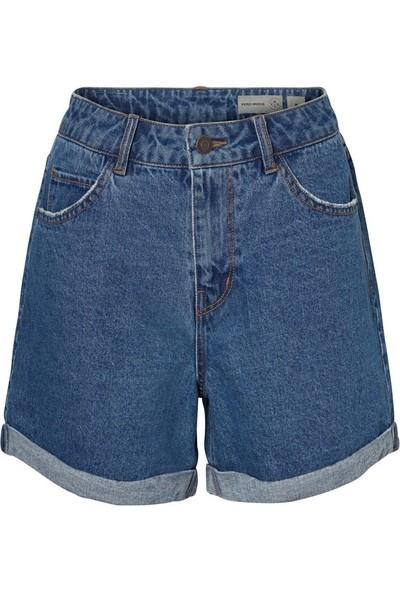 Vero Moda 10210384 Kadın Kot Şort Mavi