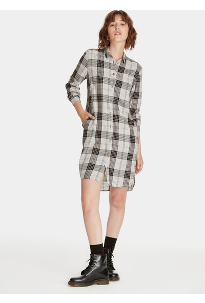 Kareli Gömlek Elbise 130637-29775
