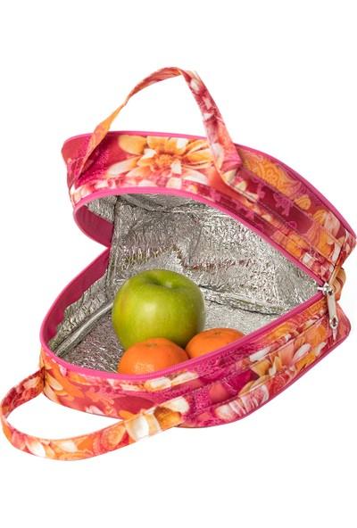 Fudela Iconıc Lounch Pembe Gülleri Beslenme Çantası