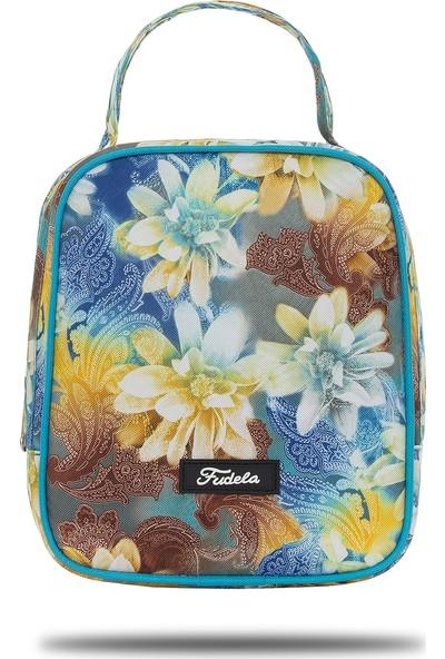 Fudela Iconıc Lounch Mavi Çiçekler Beslenme Çantası
