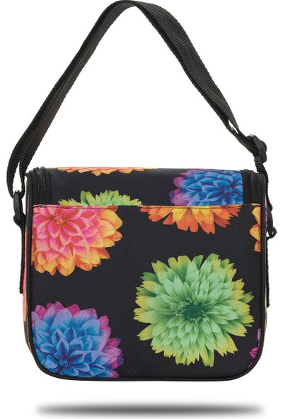 Fudela Iconic Stay Siyah Çiçekler Sırt Çantası