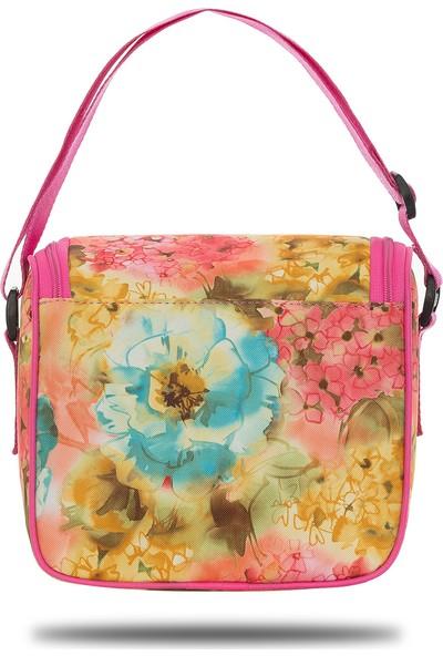 Fudela Iconic Stay Pembe Çiçekler Beslenme Çantası