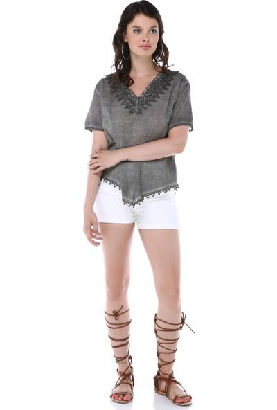 Graffin Kadın 9005 Renkli Batik Pantolon