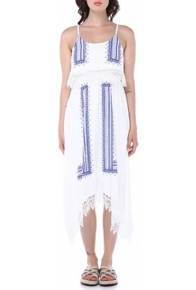 Graffin Kadın 9011 Beyaz Elbise