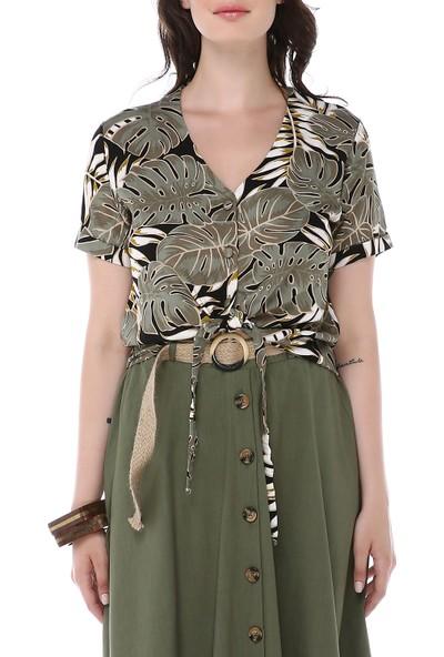 Graffin Kadın 9016 Desenli Bluz