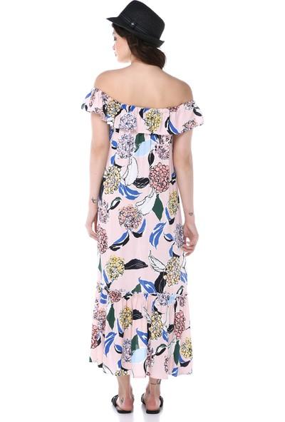 Graffin Kadın 9021 Çiçekli Elbise