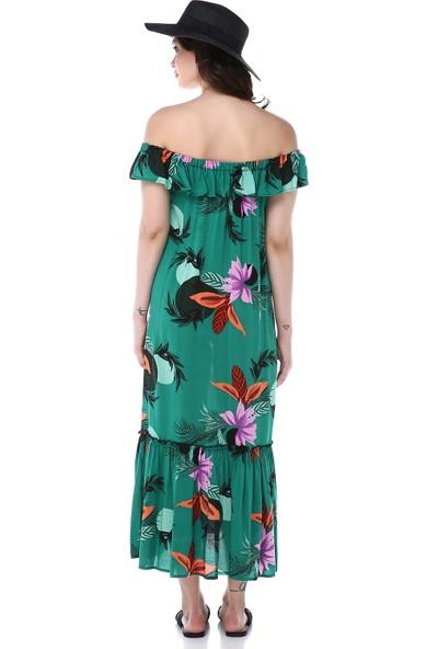 Graffin Kadın 9022 Çiçekli Elbise