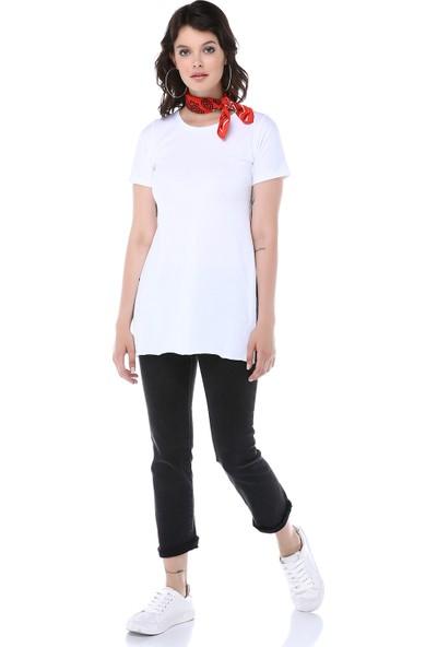 Graffin Kadın 9030 Beyaz Tshirt