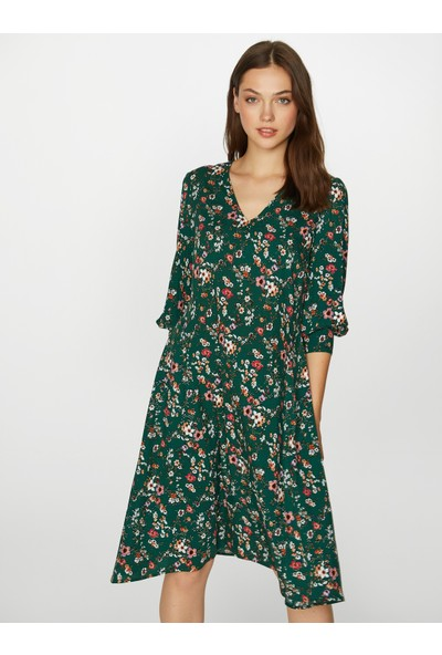 Faik Sönmez Kadın Desenli Elbise 39243