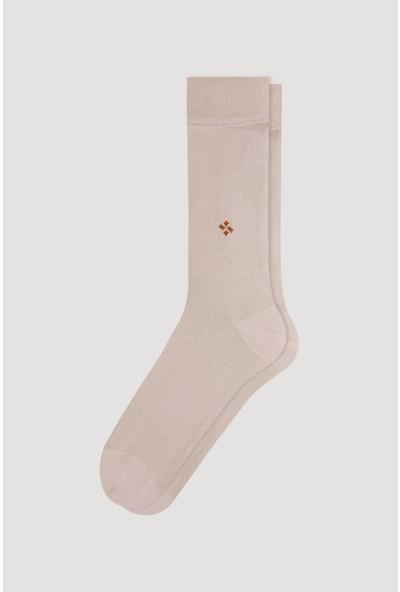Bross Bej Yazlık Desenli Erkek Çorabı