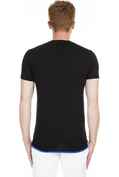 Breezy Baskılı Bisiklet Yaka T Shirt Erkek T Shirt 2019150