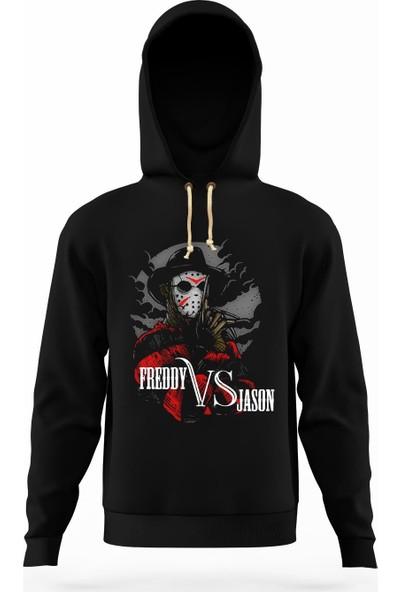 Tshirthane Freddy VS jason Erkek Sweatshirt