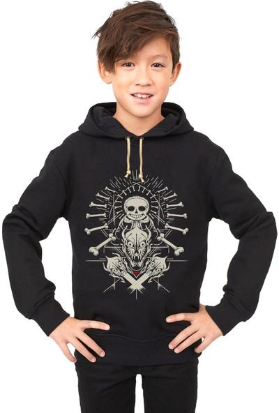 Tshirthane Undertale Skull iskelet Çocuk Sweatshirt