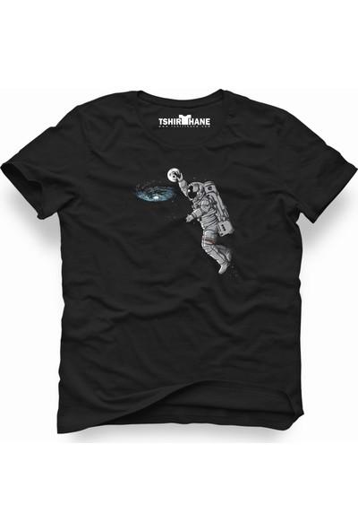 Tshirthane Nasa uzay Astronot Dünya Ay Erkek T-Shirt