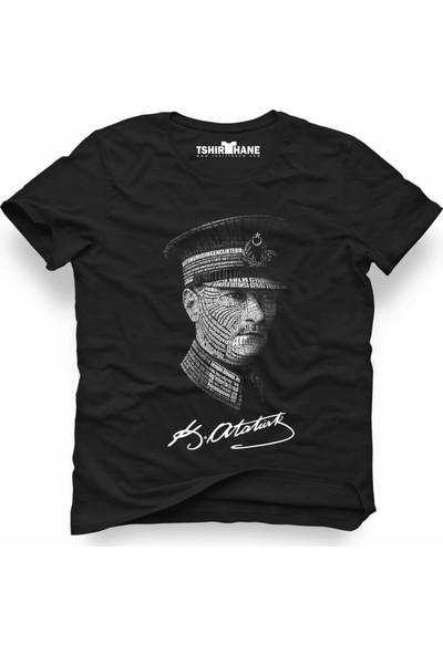 Tshirthane Mustafa Kemal Atatürk asker typografi Erkek T-Shirt