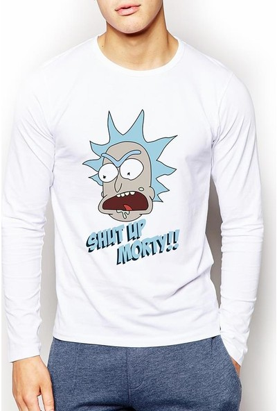 Tshirthane Rick And Morty Erkek Sweatshirt