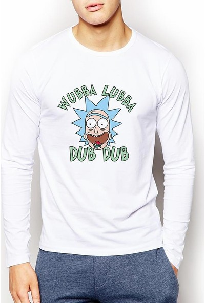 Tshirthane Rick And Morty Erkek Sweatshirt