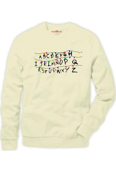 Tshirthane Stranger Things - Christmas Lights Erkek Sweatshirt