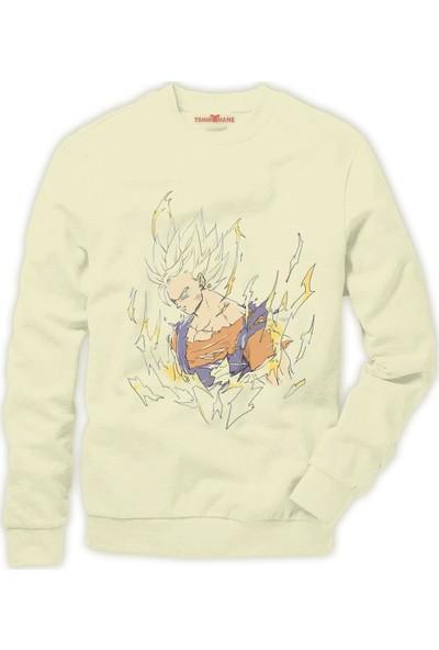 Tshirthane Dragon ball z Son Goku Vegeta Frieza Gohan Erkek Sweatshirt