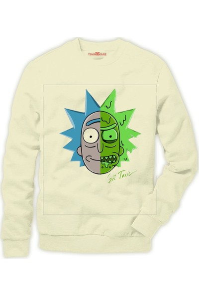 Tshirthane Rick and Morty Get Toxic Erkek Sweatshirt