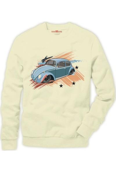 Tshirthane Volkswagen beetle vw vosvos Erkek Sweatshirt