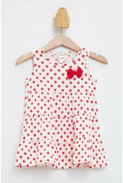Defacto Kız Bebek Kız Bebek Puantiye Baskılı Elbise