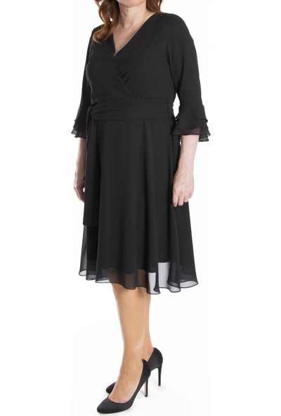 Melisita Torinia Büyük Beden Elbise