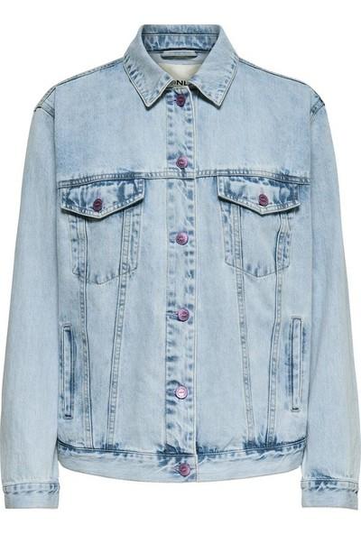Only 15171939 Kadın Caroline Pop Print Dnm Jacket Bj1361 Ceket