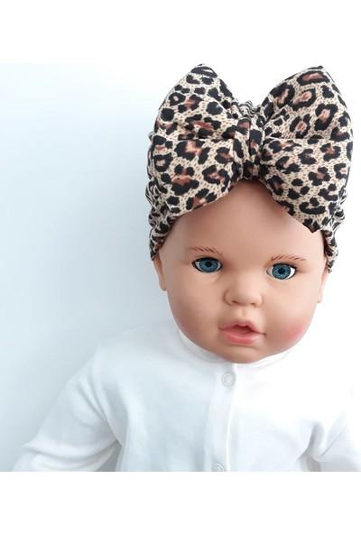 Bebegen Leopar Desenli Kız Bebek Bandana