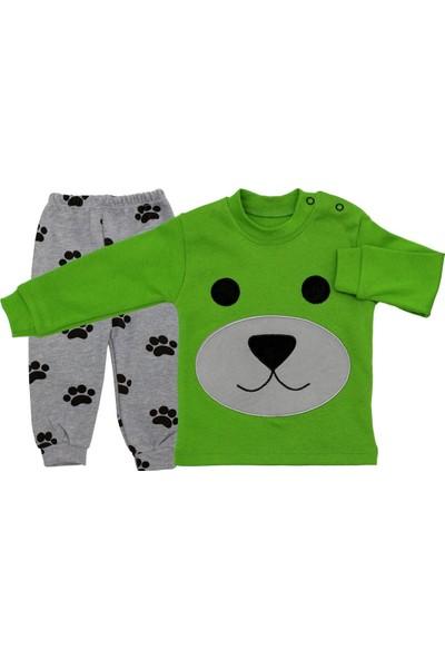 Bebegen Köpek Nakışlı Yeşil 2'li Erkek Bebek Takım