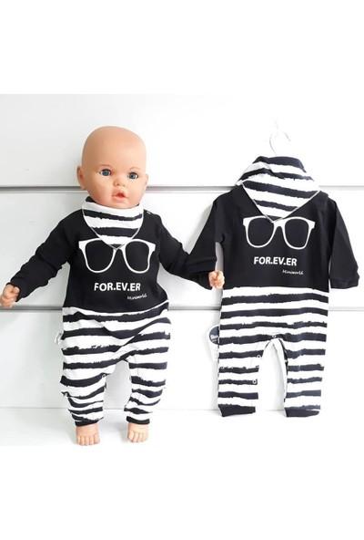 Bebegen Fularlı Forever Gözlüklü Erkek Bebek Tulum
