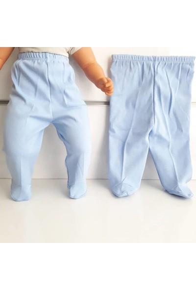 Bebegen Patikli Mavi Tek Alt Bebek Penye Pantolon