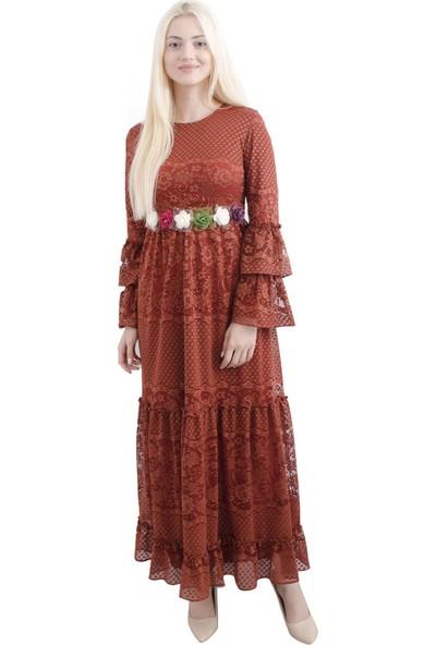 Arda New Line Kadın Kiremit Elbise 0807528-10.48
