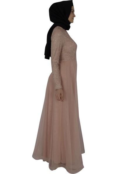Arda New Line Kadın Pudra Abiye 320060-10.79